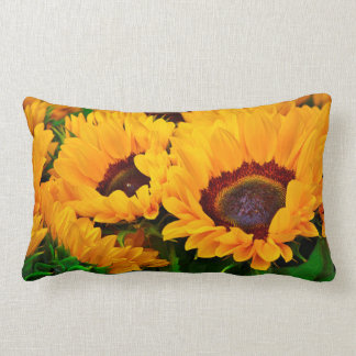 Beautiful Summertime Sunflower Painting Pillow