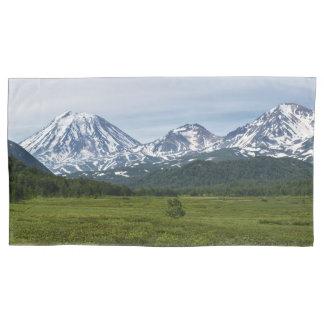 Beautiful summery volcanic landscape pillowcase