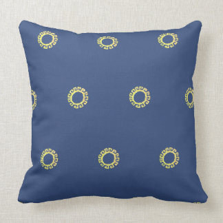 Beautiful sun design throw pillow