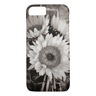 Beautiful Sunflower Bouquet Photo in Black & White iPhone 7 Case