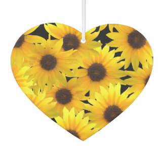 Beautiful Sunflower Heart Shaped Air Freshener