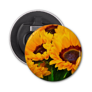 Beautiful Sunflower Painting Bottle Opener