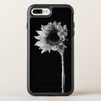Beautiful Sunflower Portrait in Black and White OtterBox Symmetry iPhone 8 Plus/7 Plus Case