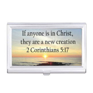 BEAUTIFUL SUNRISE 2 CORINTHIANS 5:17 DESIGN BUSINESS CARD CASES