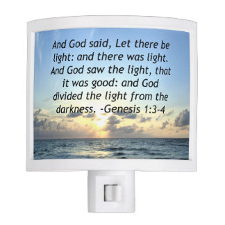 BEAUTIFUL SUNRISE GENESIS 1:3 SCRIPTURE PHOTO NIGHT LIGHTS