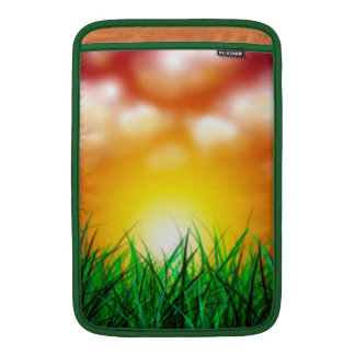 Beautiful Sunrise Over a Field of Grass MacBook Sleeve