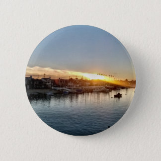 Beautiful Sunset at the Harbor in Balboa Island 2 Inch Round Button