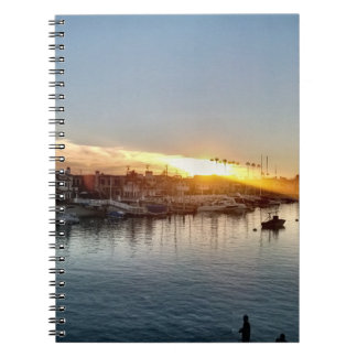 Beautiful Sunset at the Harbor in Balboa Island Notebooks