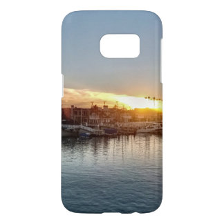 Beautiful Sunset at the Harbor in Balboa Island Samsung Galaxy S7 Case