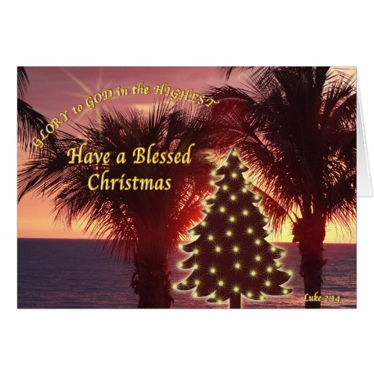 Beautiful Sunset Christian Christmas Cards