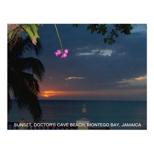 Beautiful Sunset Doctor's Cave Beach, Jamaica Postcard