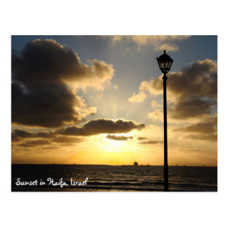 Beautiful Sunset in Haifa, Israel Postcard