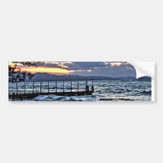 Beautiful Sunset in Montego Bay, Jamaica Bumper Sticker