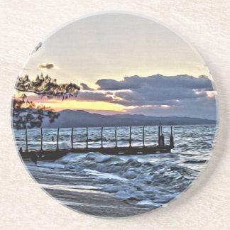 Beautiful Sunset in Montego Bay, Jamaica Coaster