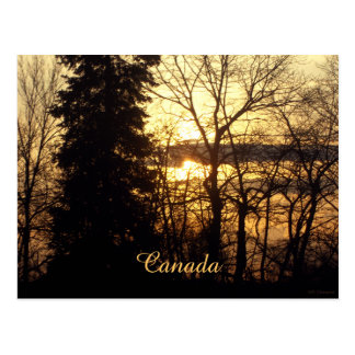 Beautiful Sunset in Quebec, Canada Personalized Postcard