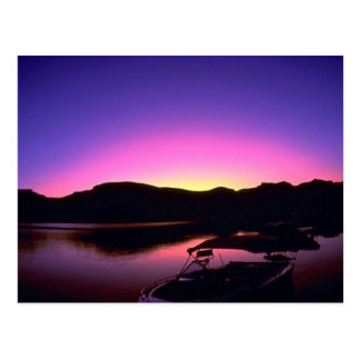 Beautiful Sunset: Lake Mead, Nevada Postcard