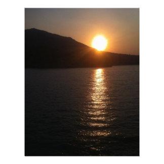 Beautiful Sunset Custom Letterhead