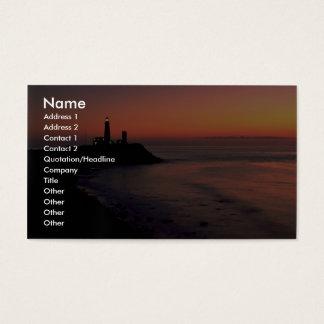 Beautiful Sunset: Montauk Point Light House, Long Business Card