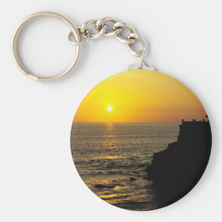 beautiful sunset on Bali island Keychain