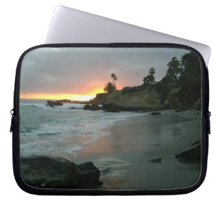 Beautiful Sunset on the Shore Cliffs Laptop Computer Sleeves