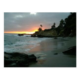 Beautiful Sunset on the Shore Cliffs Postcard