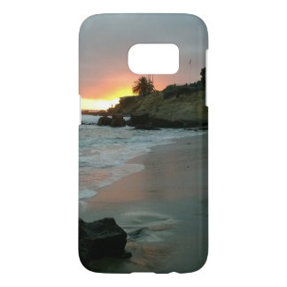Beautiful Sunset on the Shore Cliffs Samsung Galaxy S7 Case