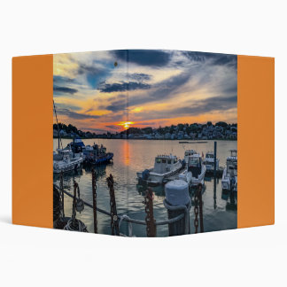 Beautiful Sunset over a Marina in Hull, Massachuse Vinyl Binder