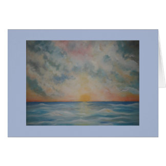 Beautiful sunset over the ocean notecard