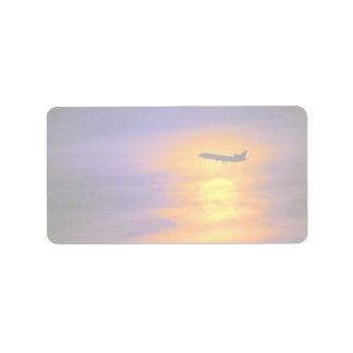 Beautiful Sunset: Passenger jet departing from Tor