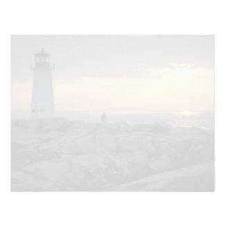 Beautiful Sunset Peggy s Cove Light House Nova S Letterhead Design