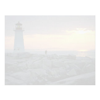 Beautiful Sunset: Peggy's Cove Light House, Nova S Letterhead