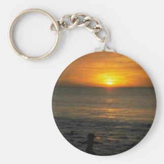 Beautiful Sunset: Perth, Australia Basic Round Button Keychain