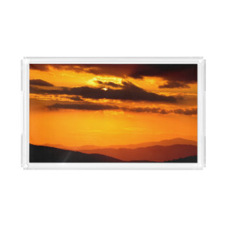 Beautiful sunset photo acrylic tray