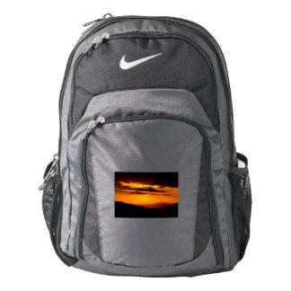 Beautiful sunset photo backpack