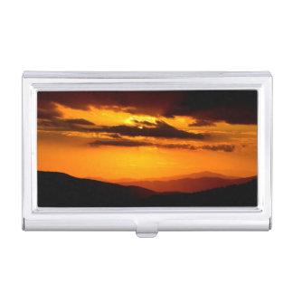 Beautiful sunset photo business card holder