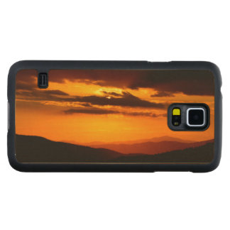 Beautiful sunset photo carved maple galaxy s5 case