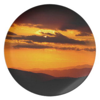 Beautiful sunset photo dinner plate