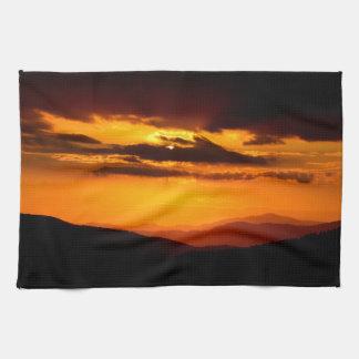 Beautiful sunset photo kitchen towel