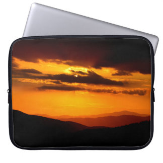 Beautiful sunset photo laptop sleeve