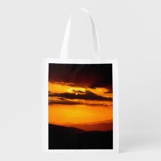 Beautiful sunset photo reusable grocery bag