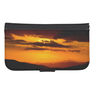 Beautiful sunset photo samsung s4 wallet case