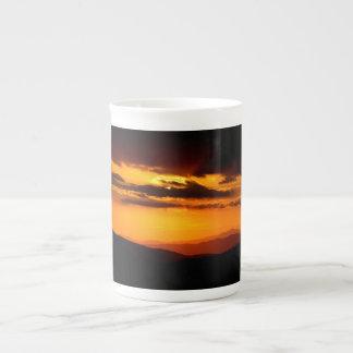 Beautiful sunset photo tea cup
