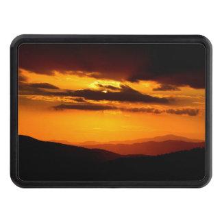 Beautiful sunset photo trailer hitch cover