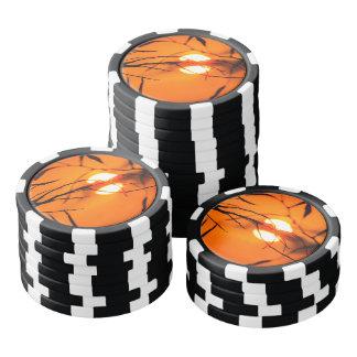 Beautiful Sunset Poker Chips