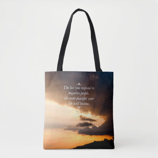 Beautiful sunset rays of hope Inspirational quote Tote Bag