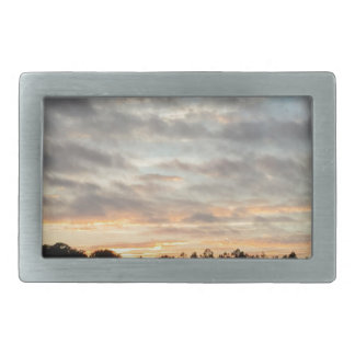 Beautiful Sunset Rectangular Belt Buckle