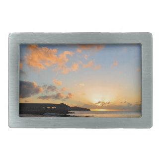 Beautiful sunset rectangular belt buckle