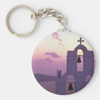 Beautiful Sunset: Santorini Fira at sunset, Greece Keychain