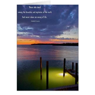 Beautiful Sunset Sky at Dusk Card