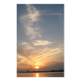 beautiful sunset stationary featuring original art stationery